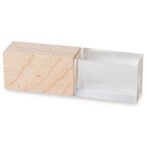 Clé USB cristal bois personnalisée Maroc