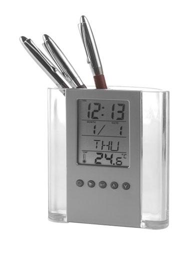 Porte-stylo horloge