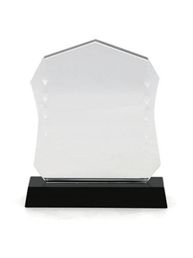 Trophée en acrylique avec une base noire